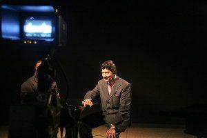 Ed Bishop on set