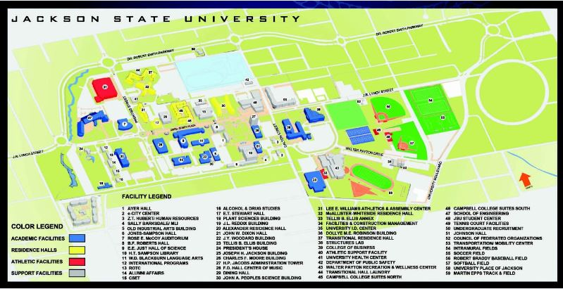 jackson state university campus map Department Of Facilities And Construction Management jackson state university campus map