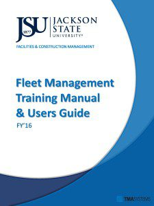Cover Page - Fleet Management Manual
