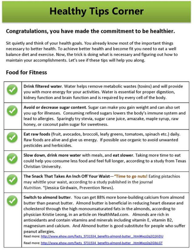 Healthy Tips Corner1