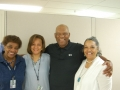 Football great Mr. Willie Richardson visits the staff at the Jackson Heart Study.  He is among the top three professional receivers Mississippi has produced.
