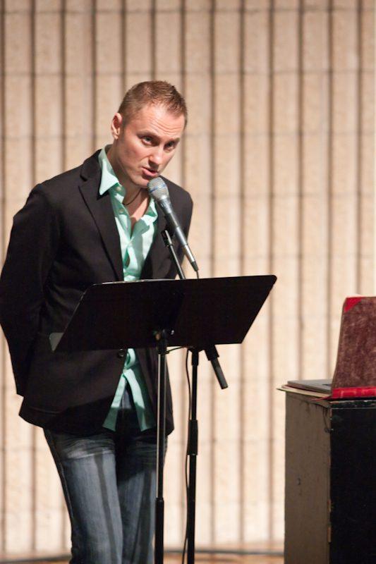 Dr. Ivan Elezovic presents at the University Scholars Symposium Recital.