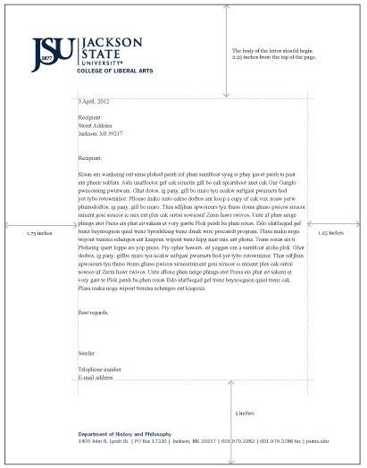 Jackson State University  Style Guide  Jsu Letterhead Formatted